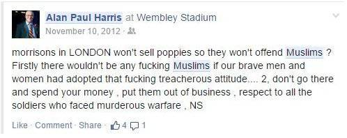 UKIP candidate's Facebook post from 2012