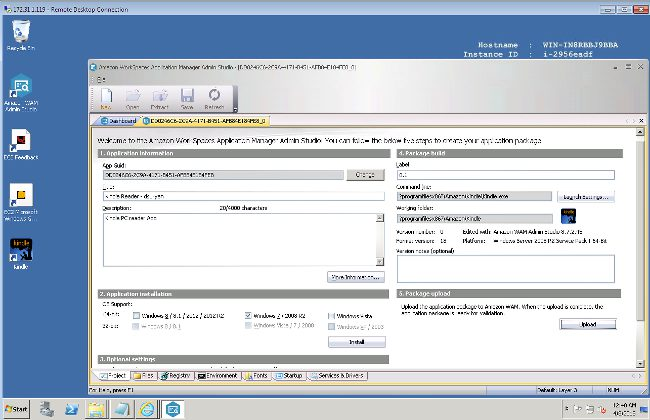 Amazon WAM application packager