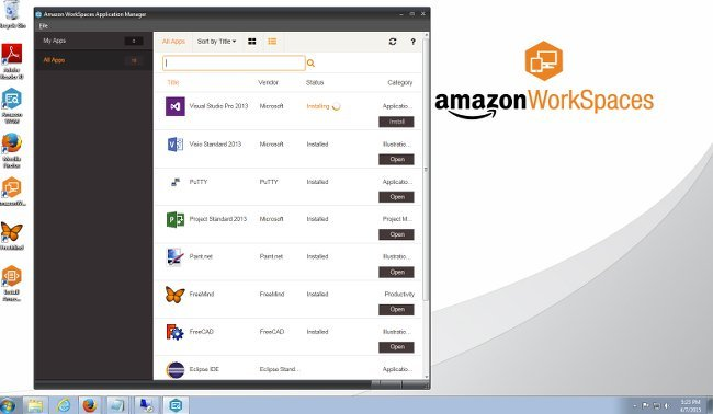 Amazon WAM user app screenshot