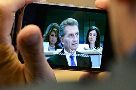 Gunther Oettinger, EU digital commissioner. Pic: Jennifer Baker