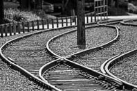 Railway line split. Pic: Ian Sane
