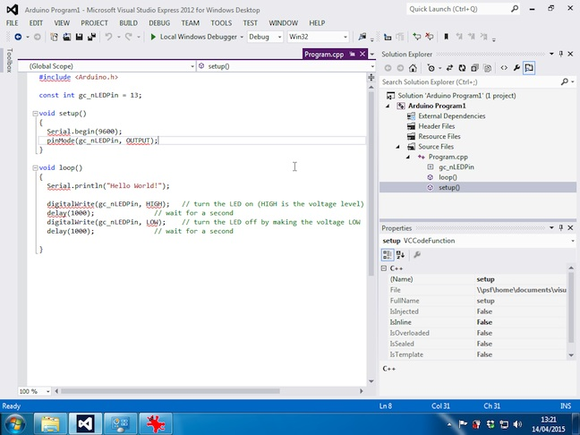 Visual Studio Arduino
