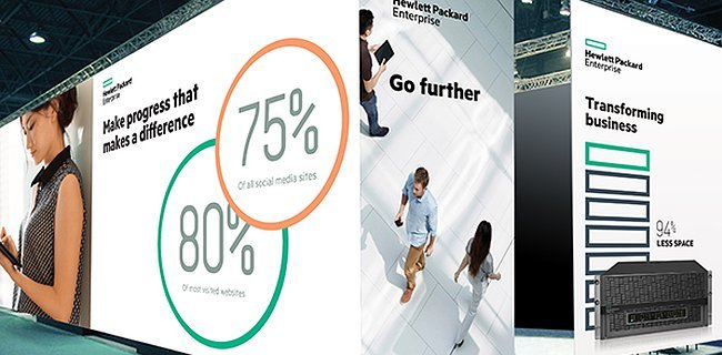 Hewlett Packard Enterprise's new branding system