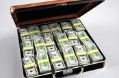 briefcase stuffed with money