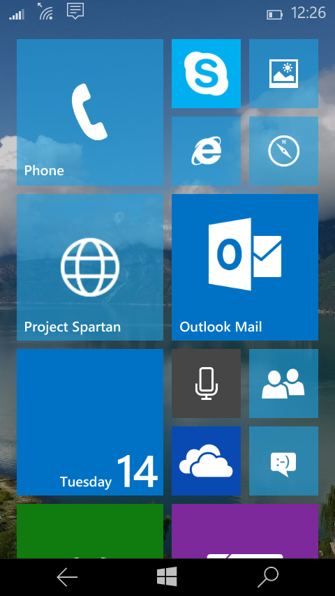 Windows 10 Telephone constitute 10051