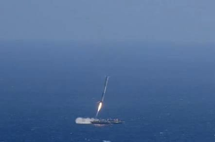 Falcon 9 crash landing. Image credit: SpaceX