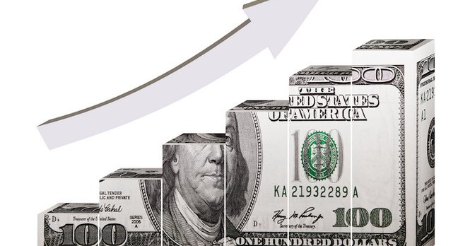 Graph of US dollar going up CC 2.0 https://www.flickr.com/photos/68751915@N05/ 401kcalculator.org.