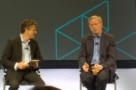 Aaron Levie and Eric Schmidt at BoxDEV