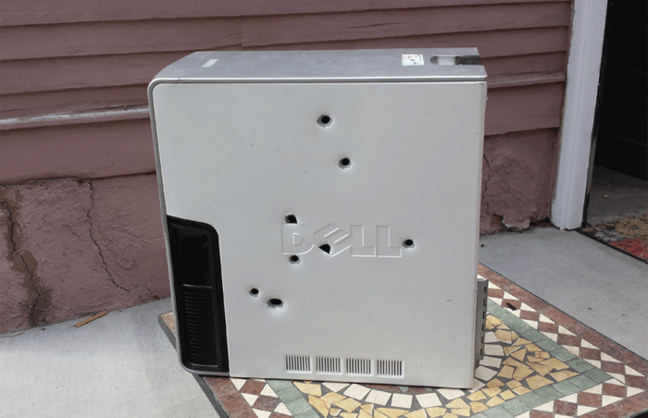 The executed Dell. Pic: The Smoking Gun