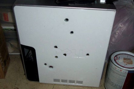 That executed Dell PC. Pic: Colorado Springs Police Dept