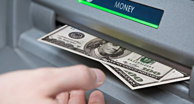 US cashpoint. Pic: Tax Credits