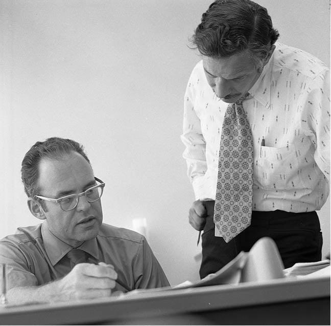 Gordon Moore Robert Noyce at Intel 1970, pic Intel Free Press