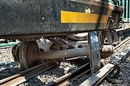 Derailed train wagon. Pic: New York MTA