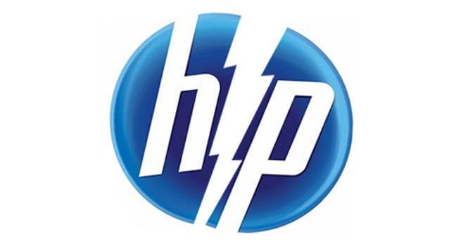 HP Logo splitting in two
