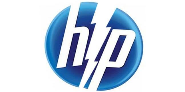 HP Logo splitting in two
