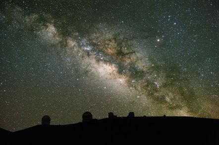 Night sky over Hawaii