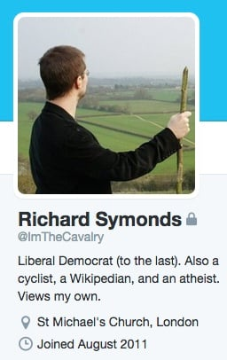 Symonds Twitter bio, since scrubbed