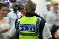 British Transport Police cop. Pic: Gordon Joly