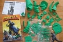 Godzilla toy in pieces