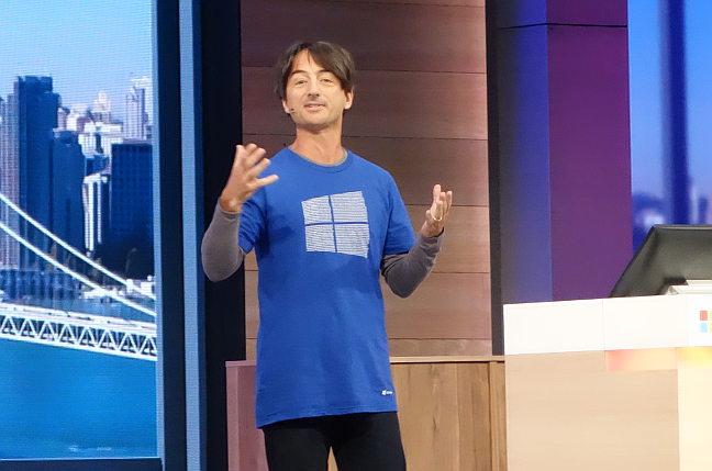 Microsoft's Joe Belfiore, speaking at Generate 2015