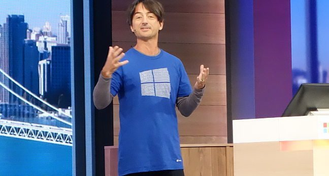 Microsoft's Joe Belfiore, speaking at Build 2015