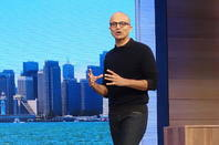 Microsoft CEO Satya Nadella, speaking at Build 2015