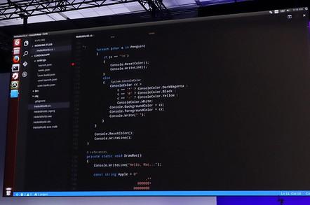 Microsoft Visual Studio Code running on Ubuntu