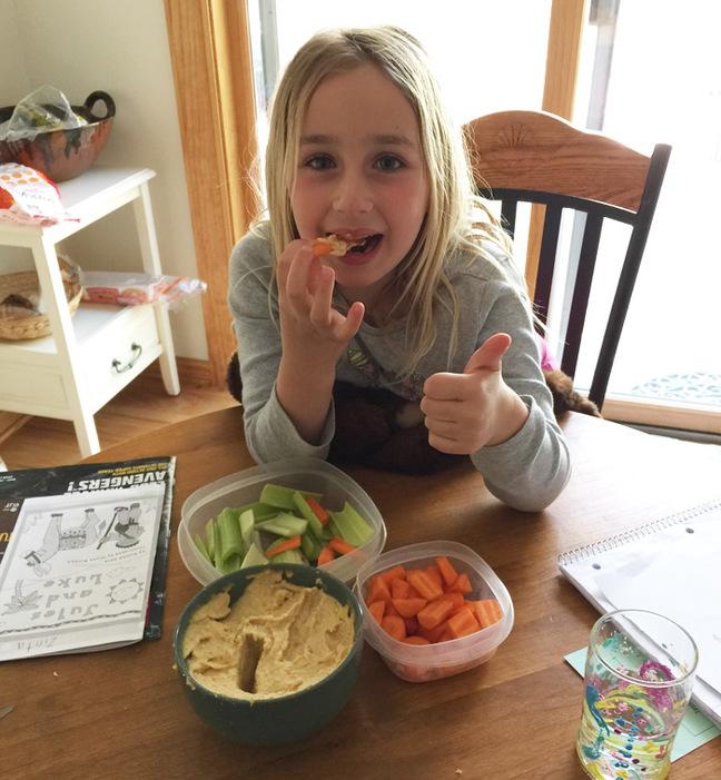 Zinta enjoying her lunch