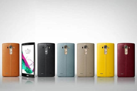 LG G4 with leather backs