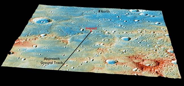 Messenger impact spot on Mercury
