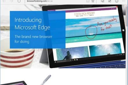 Microsoft Edge, the new web browser
