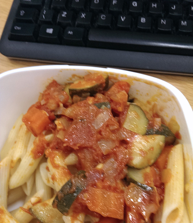 Toby's pasta packed lunch