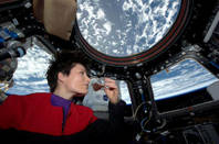 Italy's first woman in space enjoys espresso on the ISS