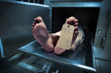Body toe tag image via Shutterstock