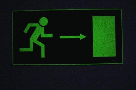 Exit sign. Pic:  Lukas Kästner