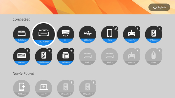 Firefox OS for televisions devices screen