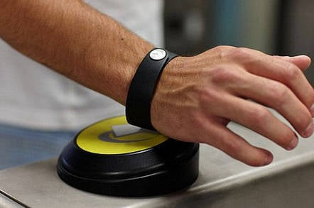 The Barclaycard wristband was aimed at tube users