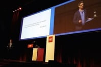 Chris C Kemp on stage a CeBIT Australia