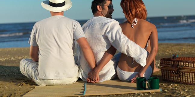 Threesome photo via Shutterstock