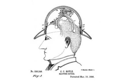 Patent for a saluting hat