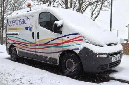 BT Openreach van