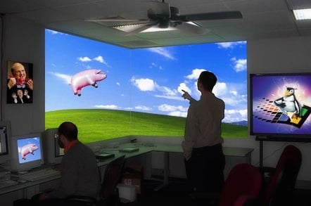 Interactive Office - And pigs might fly... by https://www.flickr.com/photos/oddsock/ CC 2.0 attribution https://creativecommons.org/licenses/by/2.0/ small crop at top of image