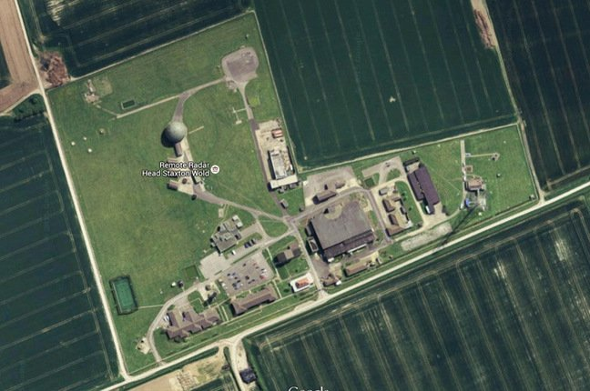 Satellite image of Staxton Wold, grabbed from Google Maps