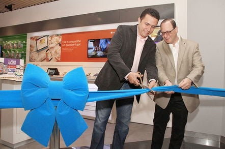Snipping the ribbon to open a new Microsoft Authorized Reseller
