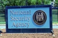Sign outside the National Security Agency HQ