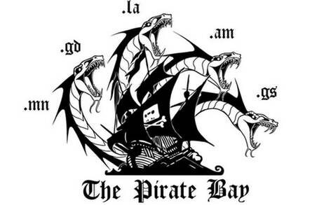 The new Pirate Bay logo