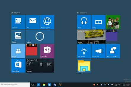 The Windows 10 (optional) full screen Start menu now looks more like 8