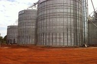 Agricultural silos in Paraguay