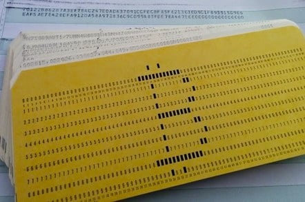 Bitcoin punch cards